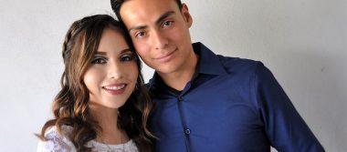 Silvia y Uriel se unieron en matrimonio