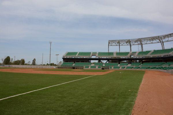 Roban en el nuevo estadio de béisbol