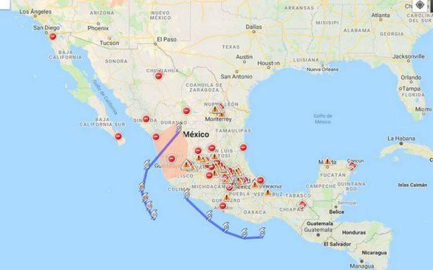 Por huracán Willa, Google activa alertas y mapa de crisis