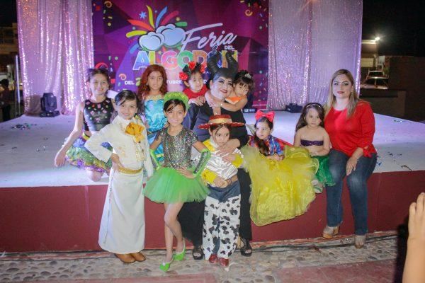 Candidatas del certamen  Mini reina de la Feria del Algodón 2018