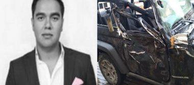 Ebrio, dirigente juvenil del PRI mata a su novia en accidente vial