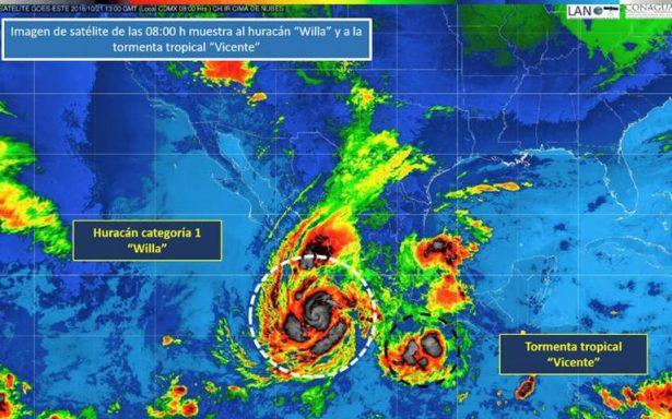 Huracán Willa se intensifica a categoría 2, se ubica cerca de costas de Jalisco